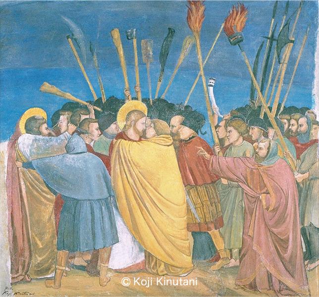 キリスト捕縛「ユダの接吻」
